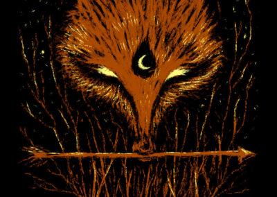 Red fox spirit and arrow